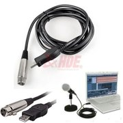 XLR Female to USB Male 3m 9ft. Cable Cord Adapter Vocal Recorder Microphone Link