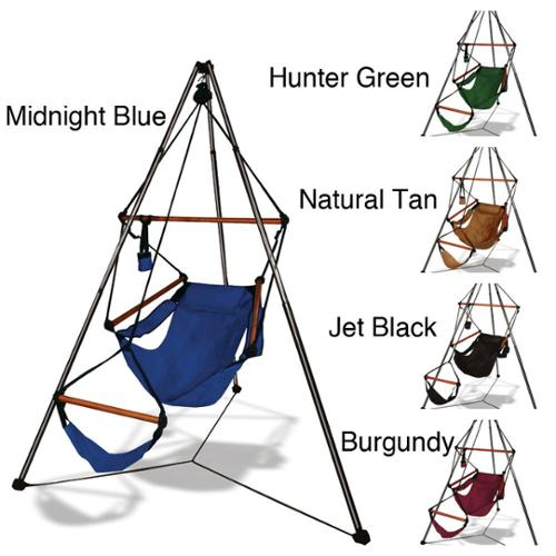 Click here to buy Kings Pond Tripod Stand and Hammock Chair Combo by Overstock.