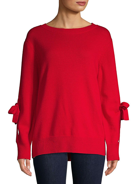 Tie-Sleeve Cashmere Sweater