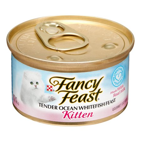 (24 Pack) Fancy Feast Kitten Tender Ocean Whitefish Feast Wet Cat Food, 3 oz.