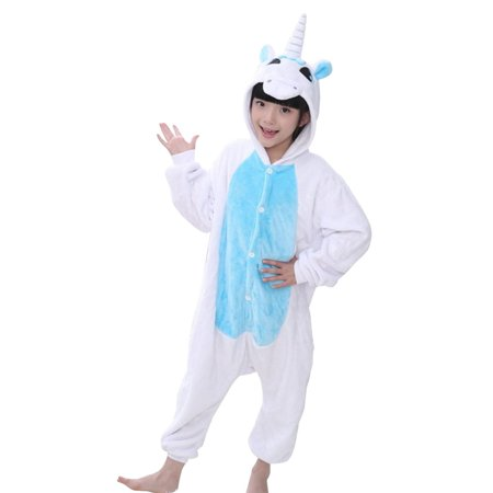 Kids' Animal Halloween Costume Homewear Unicorn Pajamas Blue S - Animae Costume
