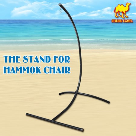 Hatteras Hammocks Steel Swing Stand - Strong Camel New Strong Camel 440 Lbs Weight Capacity C-Frame Stand Hammock Steel Swing Holder Air Chair Construction For Hanging-STAND ONLY