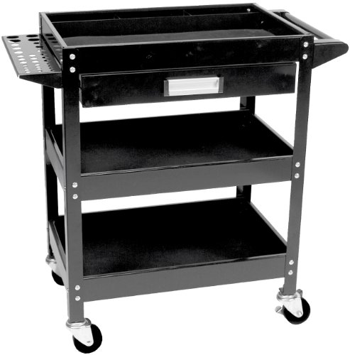 Wilmar W54006 Service Cart With Tool Holder, Bins And Drawer