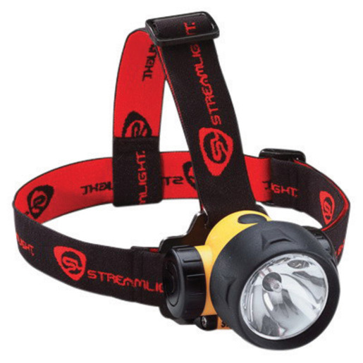 Streamlight Septor Elastic Rubber Headstrap 61052 LED Headlamp 3 AAA, Yellow by Streamlight Inc