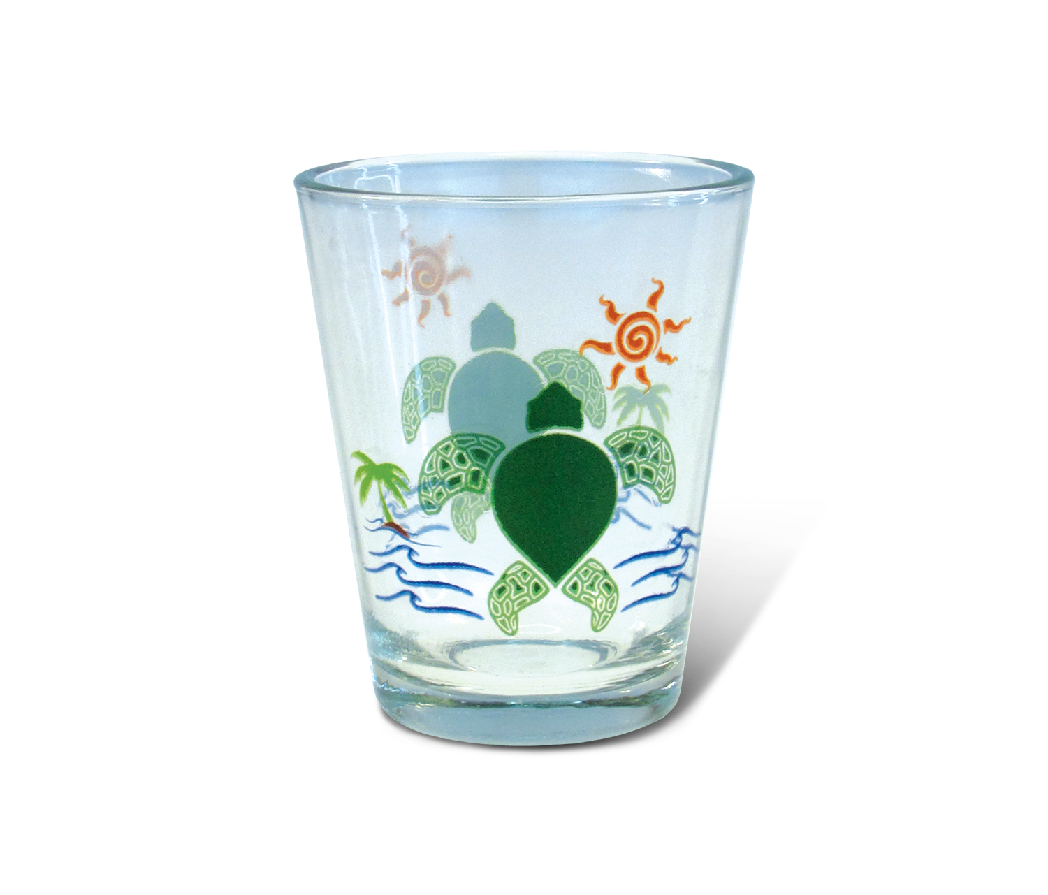 Clear Shot Glass Sea Turtle by Puzzled