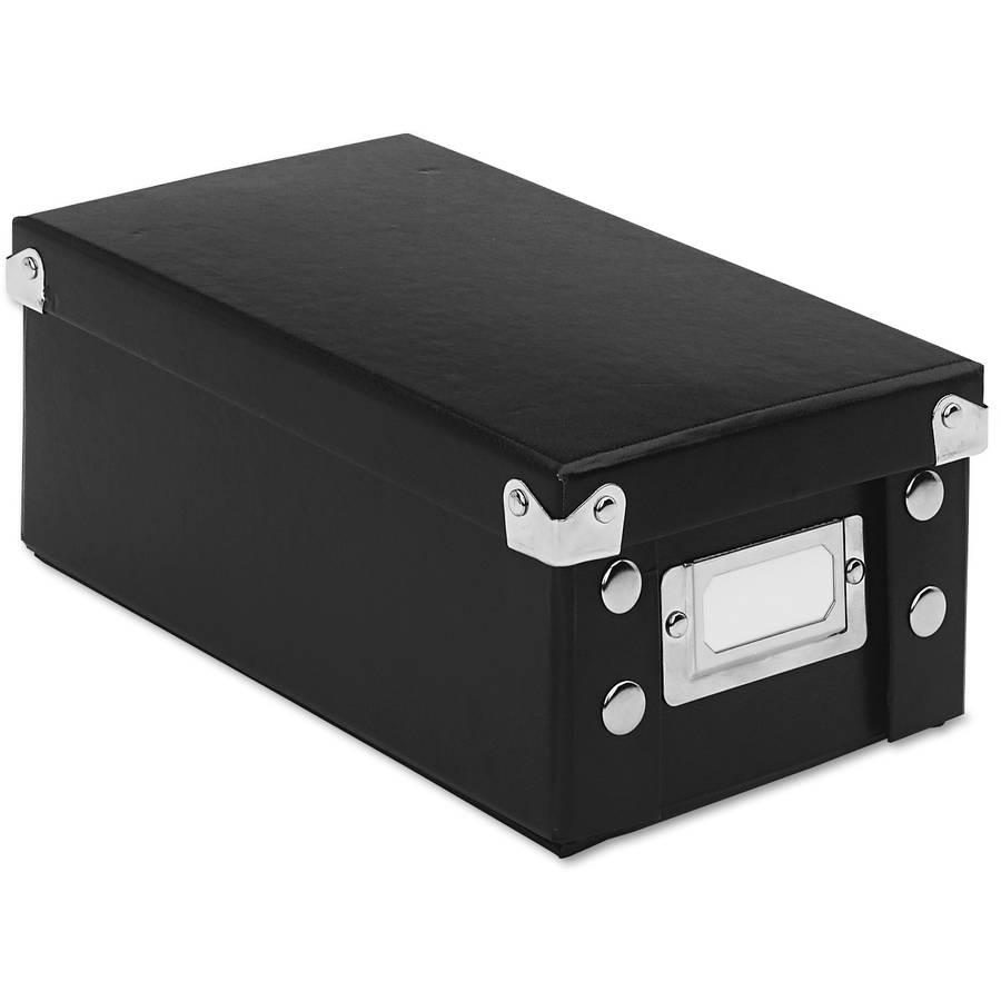 Snap-N-Store Collapsible Index Card File Box, Black