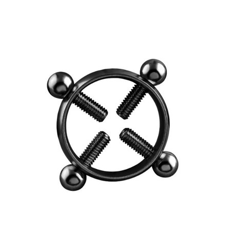 Fashionable Anti-Rust Circular Nipple Ring Adjustable Shields Screw Body Piercing Jewelry