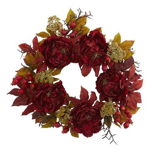 Darby Home Co 24'' Peony Sedum Wreath