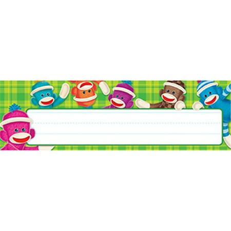 Trend Enterprises Inc. T-69235 Sock Monkey Desk Name Plates ()