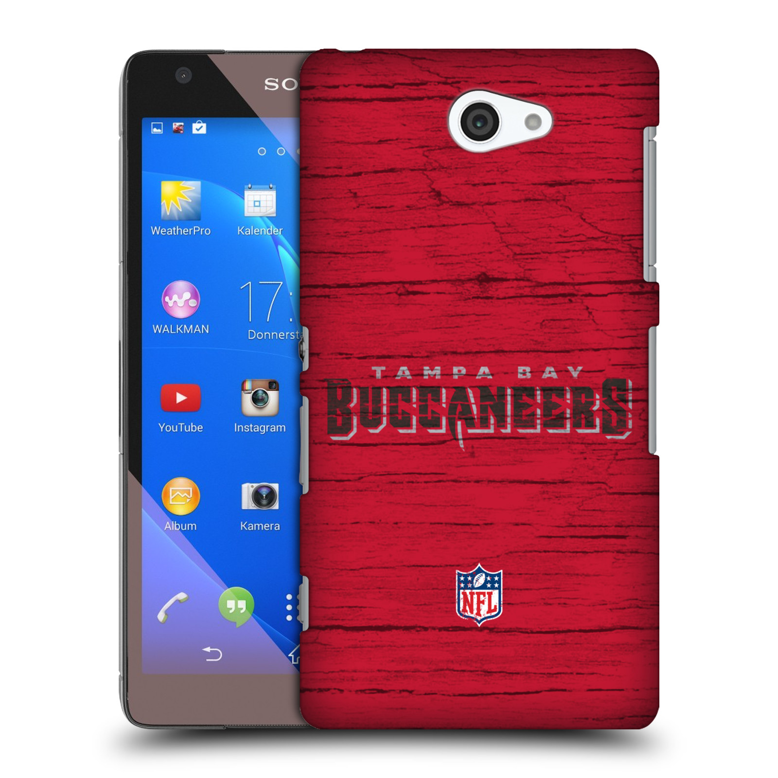 OFFICIAL NFL TAMPA BAY BUCCANEERS LOGO HARD BACK CASE FOR SONY PHONES 4