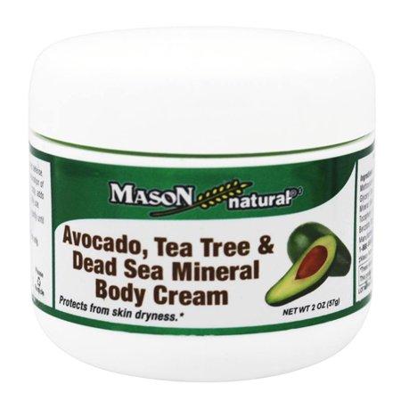 Mason Natural Avocado, Tea Tree And Dead Sea Mineral Body Cream, 2 oz