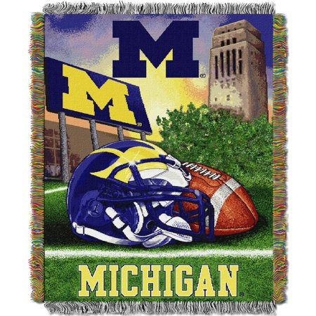 Michigan Wolverines The Northwest Company 48'' x 60'' Home Advantage Woven Throw - No