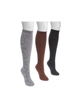 71ea0586ce7894 Product Image Women's MUK LUKS Crosshatch Knee High Sock (3 Pairs)