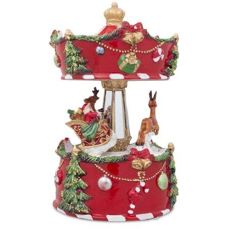 Christmas Musical Carousel with Santa and Reindeer ()