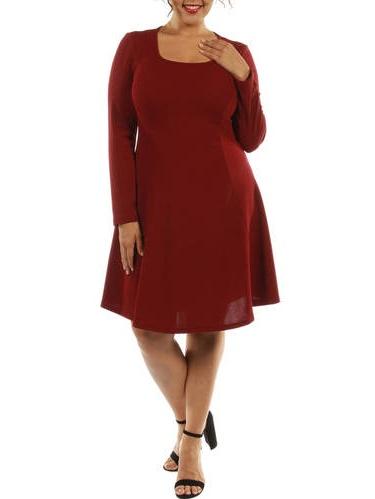 Women's Plus Black Midi Dress