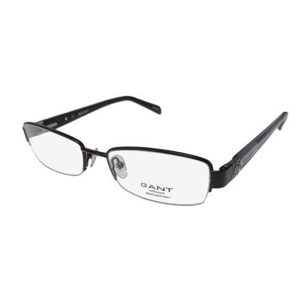 Crystal Hinge - New Gant Preble Womens/Ladies Designer Half-Rim Black / Glitter Gray Classy Contemporary With Crystals Frame Demo Lenses 51-17-135 Crystals Spring Hinges Eyeglasses/Eyewear