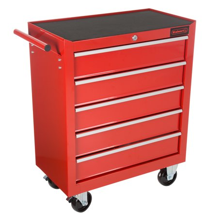 rolling tool box cabinet 5 drawer portable storage chest tools organizer with wheels ball. Black Bedroom Furniture Sets. Home Design Ideas