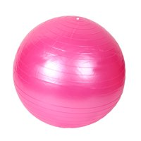 Gym Exercise Balance Fitness Swiss Yoga Ball Pink 65cm Dia w Inflator Pump