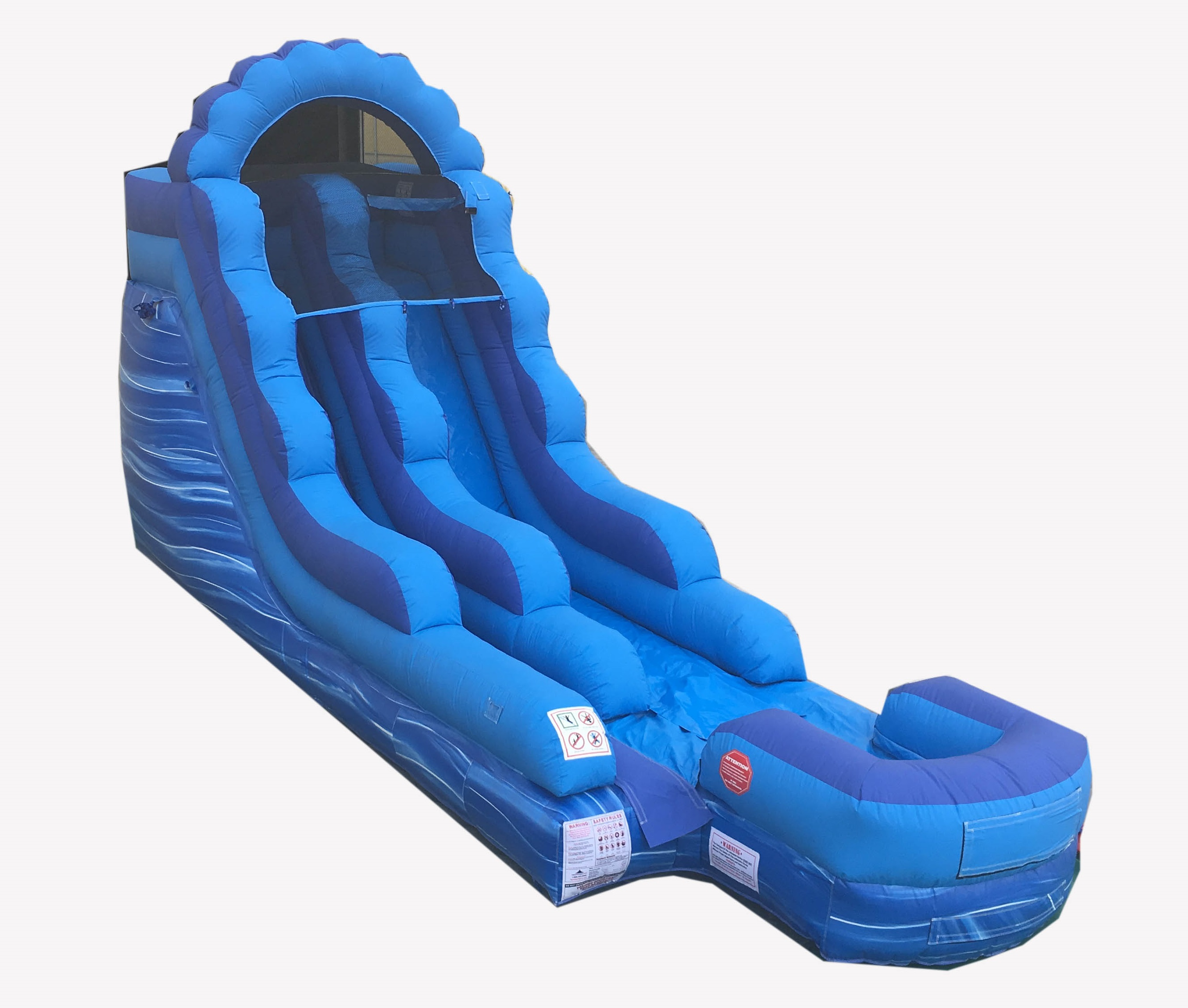 Pogo 15' Blue Marble Commercial Inflatable Waterslide with Blower Kids Bouncy Jumper by Pogo Bounce House