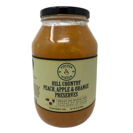 - Fischer & Wieser Hill Country Peach, Apple & Orange Fruit Preserves 33 OZ