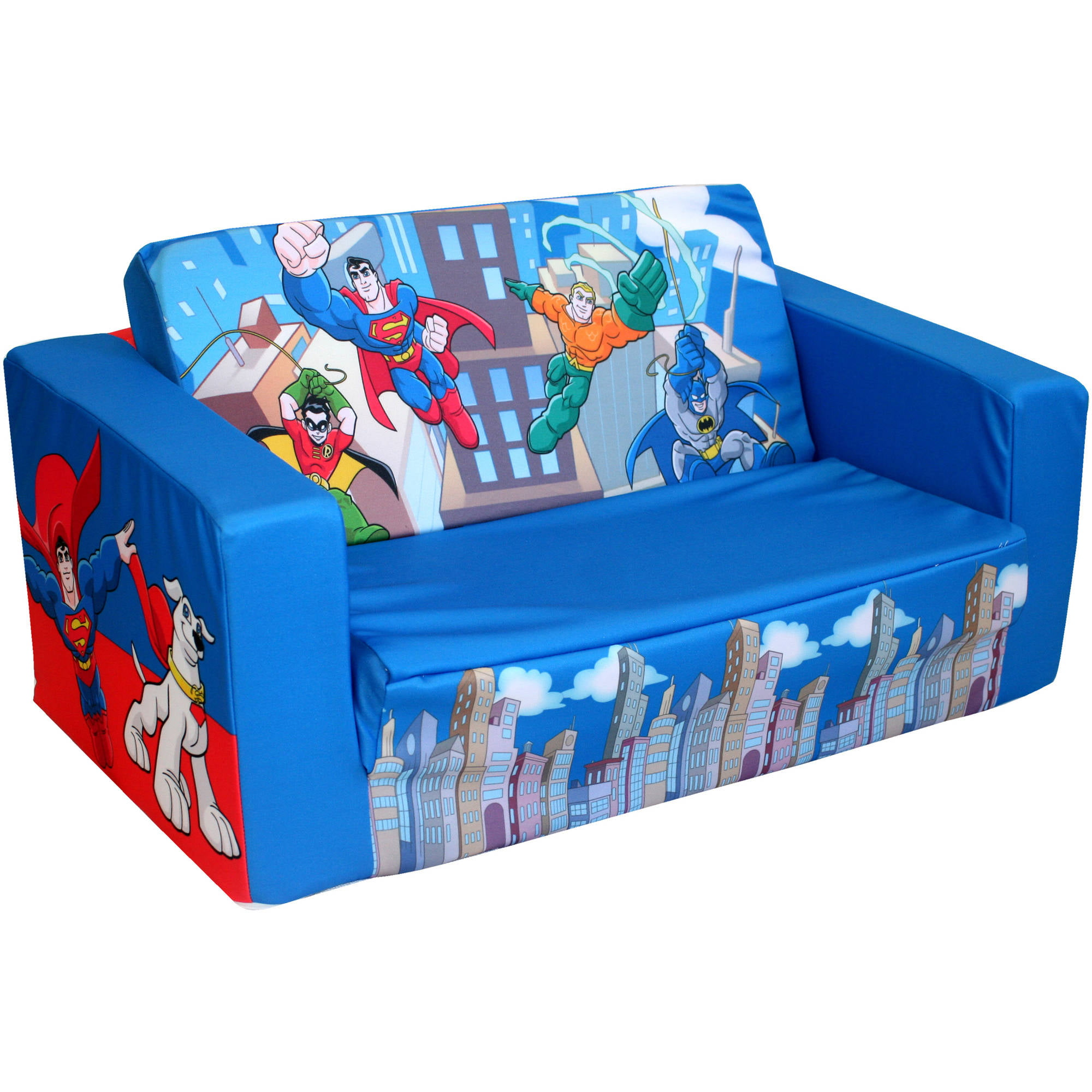 Flip sofas marshmallow furniture children s 2 in 1 flip open foam sofa thesofa Toddler flip out sofa couch bed
