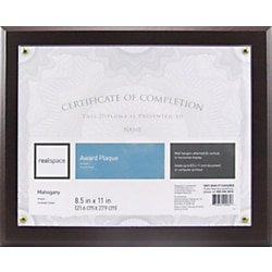 - Realspace™ Award Plaque, 8-1/2