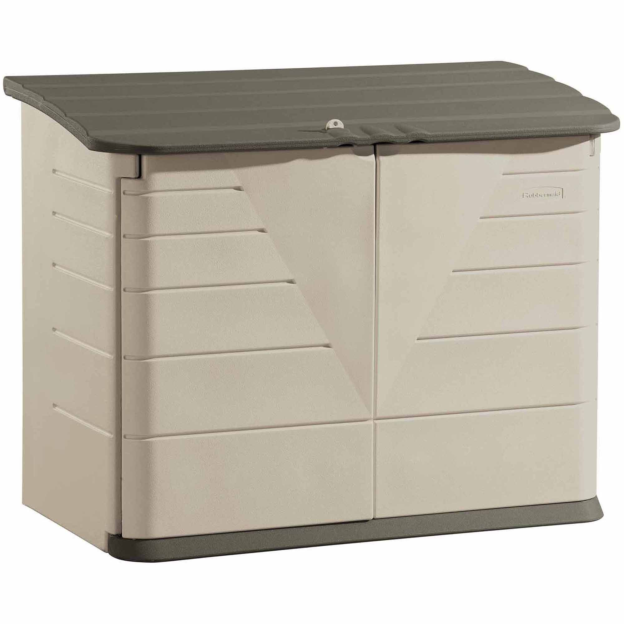 castle storage with gray feet rubbermaid under shed fiberon lid ideas sheds split deck cubic stairs