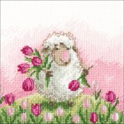 "A Wish In Every Flower Counted Cross Stitch Kit-5""X5"" 14 Count"