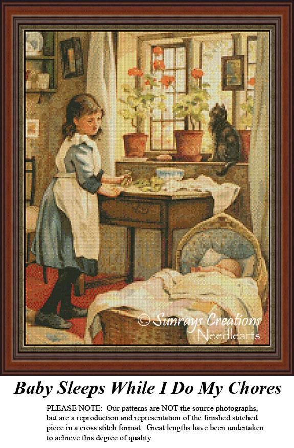 Pattern Only, You Provide The Floss and Fabric A Big Bubble Vintage Cross Stitch Patterns
