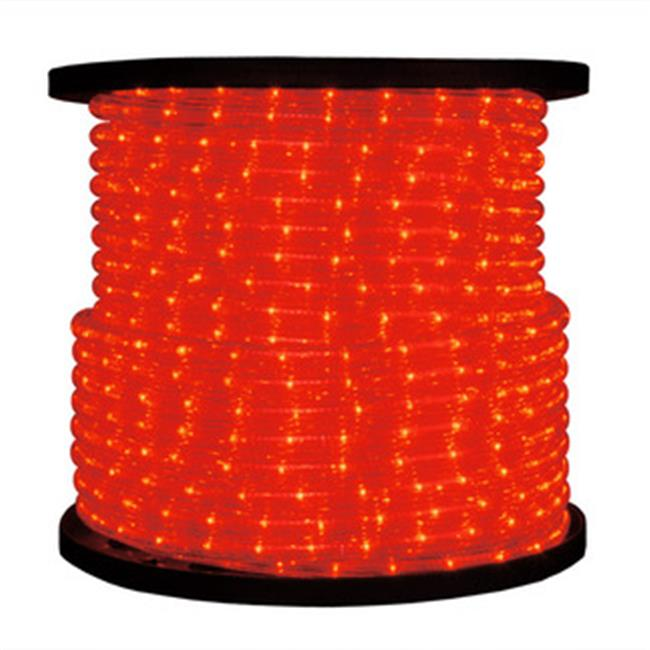 Queens of Christmas C-ROPE-LED-RE-1-10 150 ft.  Spool 10mm Red LED Rope Light with 1 inch Spacing, 36 inch Cut Length