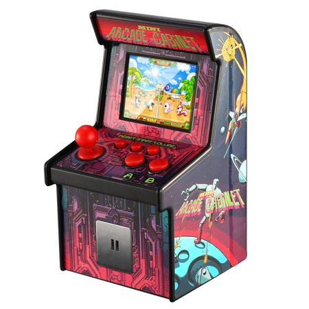 GPCT Portable Arcade Micro Game Player Retro Gaming Machine 200 Games 2.5inches LCD Screen Handheld Gaming Console w/Puzzle Adventure Educational Games For Pressure (Super Off Road Arcade Game For Sale)
