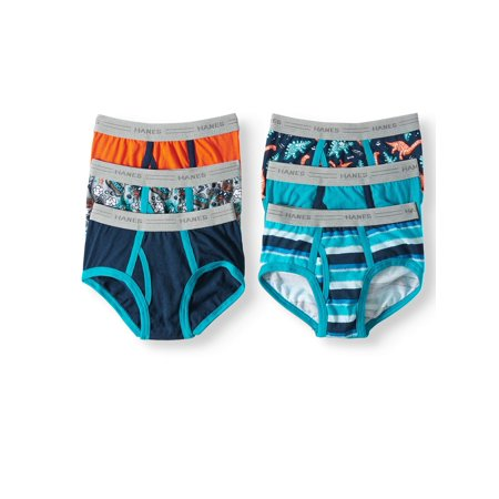 Hanes EcoSmart Tagless Brief Underwear, 6 Pack (Toddler Boys)