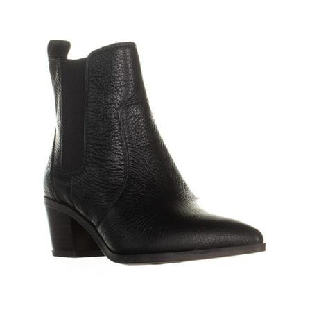 a617fac23dd Womens Franco Sarto Sienne Pointed Toe Block Heel Boots, Black, 5 US / 35 EU