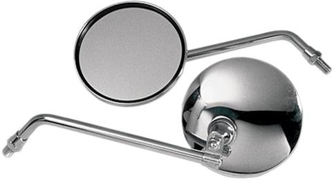 Short Stem Emgo 20-29605 Universal Round Mirror 5in 10mm Thread Either