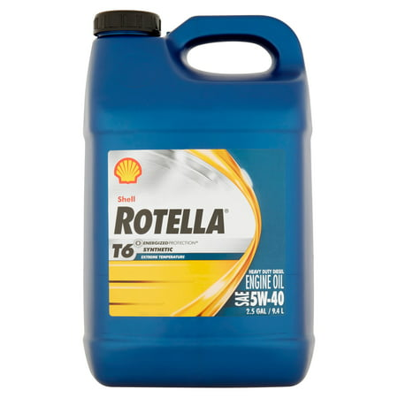 Shell rotella t6 synthetic heavy duty diesel sae 5w 40 for Shell rotella heavy duty motor oil