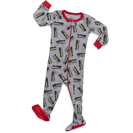Leveret Train Footed Pajama Sleeper 100% Cotton 12-18 Months Cotton Footed Sleeper Pajamas