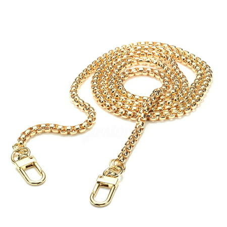 47 Inchs DIY Purse Metal Chain Strap Replacement Gold Crossbody Shoulder Strap Handbag - Gold
