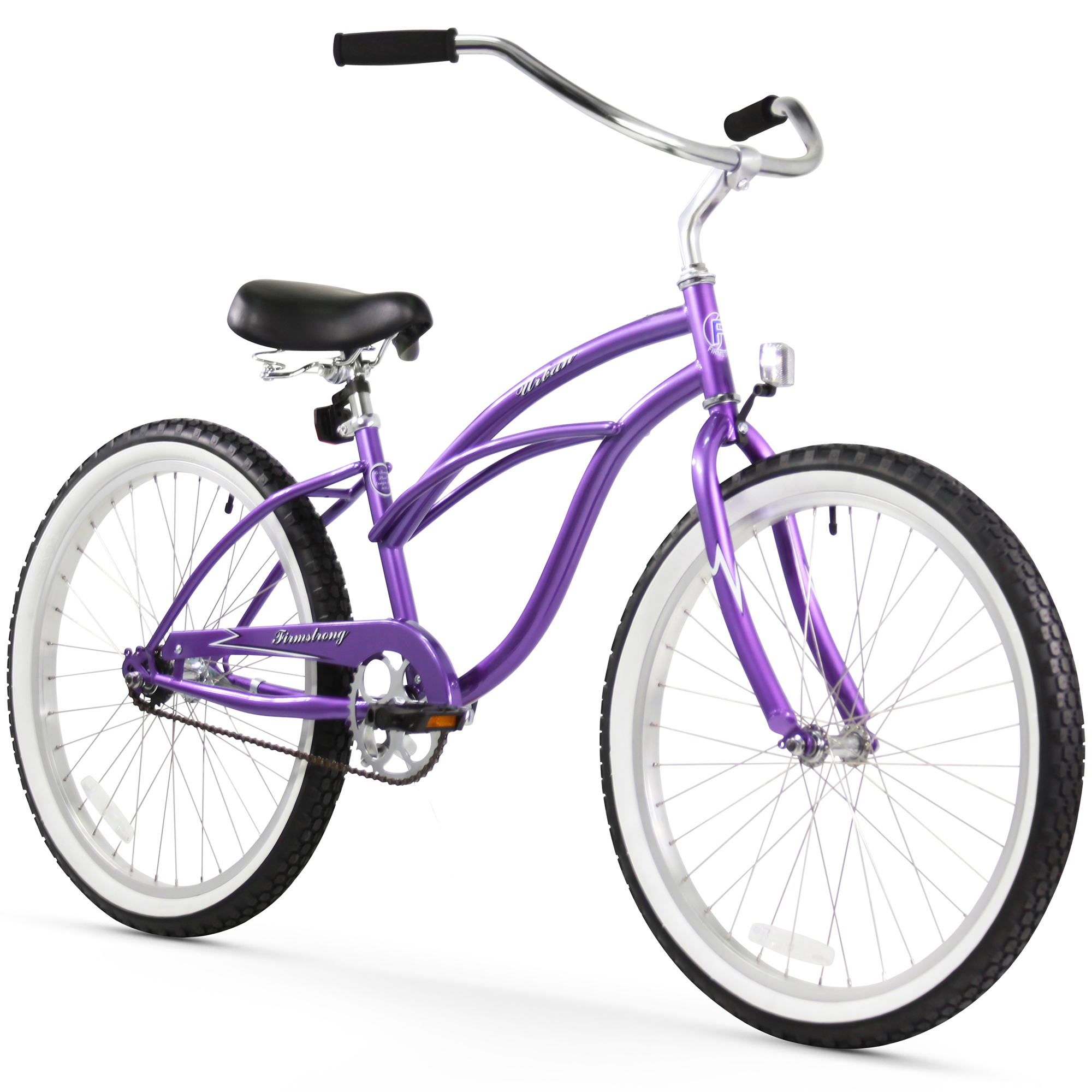 """Firmstrong 24"""" Women's Urban Lady Beach Cruiser Bicycle, 1 and 3 Speed"""