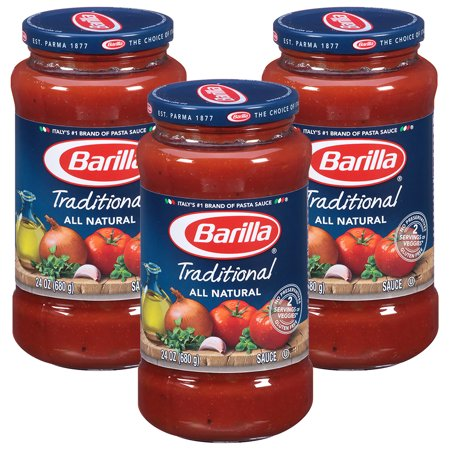(3 Pack) Barilla Pasta Sauce, Traditional, 24 Oz