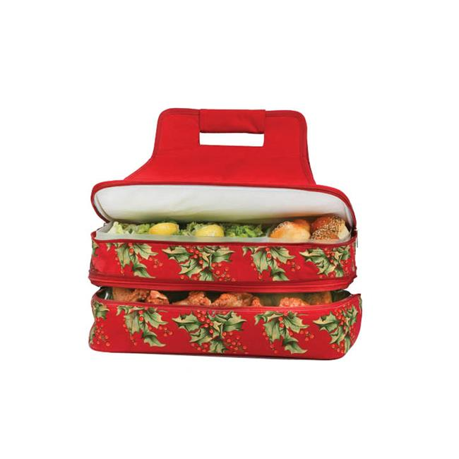 Picnic Plus ACM-721HO Picnic Plus Entertainer Hot & Cold Food Carrier - Holly