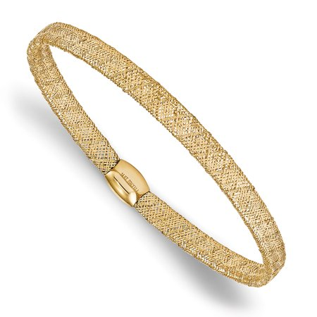 Prince Gold Bangles - Lex & Lu Leslie's 14k Yellow Gold Fancy Stretch Bangle Bracelet