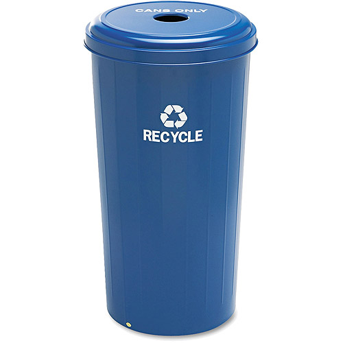 Safco Tall 20-Gallon Recycling Receptacle, Recycling Blue