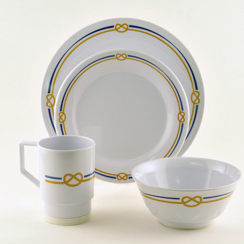Galleyware Company Decorated Rope 24 Piece Dinnerware Gift Set