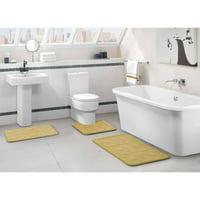 VCNY Home Byzantine 3-Piece Memory Foam Embossed Bath Rug Set