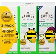 Zarbee's® Naturals 3 Pack Day & Night Cough Syrup + Mucus with Dark Honey Dietary Supplements 3-4 fl. oz. Bottles