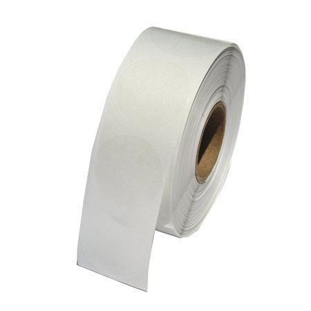 """Clear Circle Labels 1 Inch Round Wafer Seals, 1000 labels per roll, 1 roll per package, Clear polystyrene 1"""" circle wafer seal, 1000 labels per roll By LabelValuecom"""