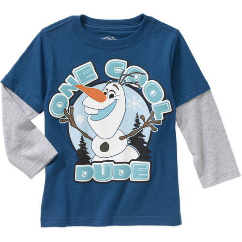 Disney Frozen Olaf Dude Toddler Boys' Hangdown Graphic Tee Shirt
