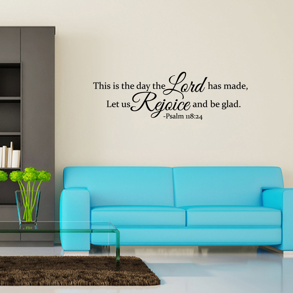 This Is The Day The Lord Has Made Vinyl Wall Decal Quote Home Sticker Decor JR233