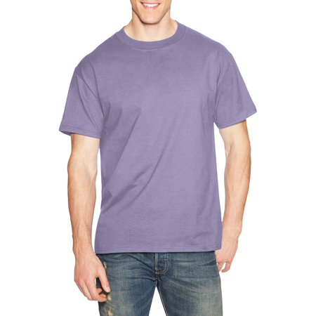 Hanes Men's Beefy-T Crew Neck Short Sleeve T-Shirt, up to - Gold Sequence Top