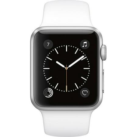 Refurbished Apple Watch 42Mm Silver Aluminum Case White Sport Band Gen 2 Series 1